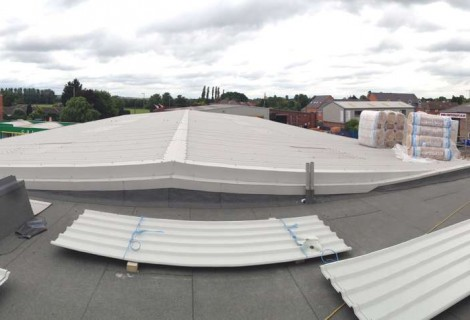 Roof Cladding of Office & Factory Units, Leicester,